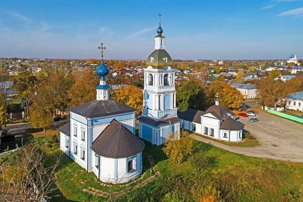 Знаменская и Ризположенская церкви на Мжаре