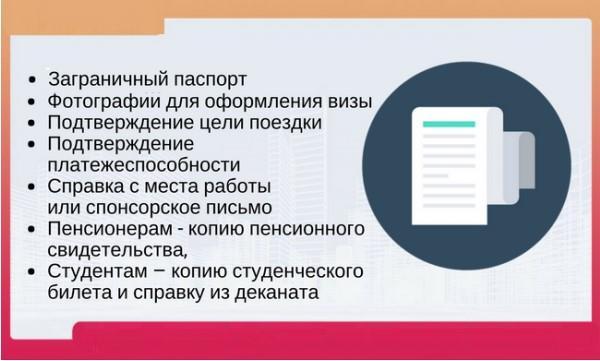 Документы для виз